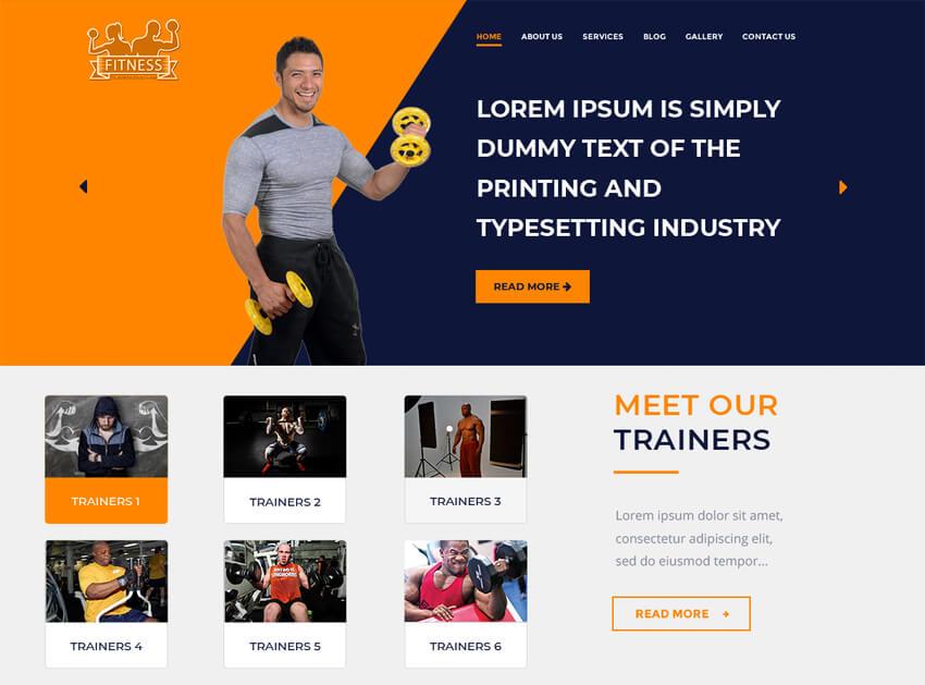 Core Fitness - WordPress Theme