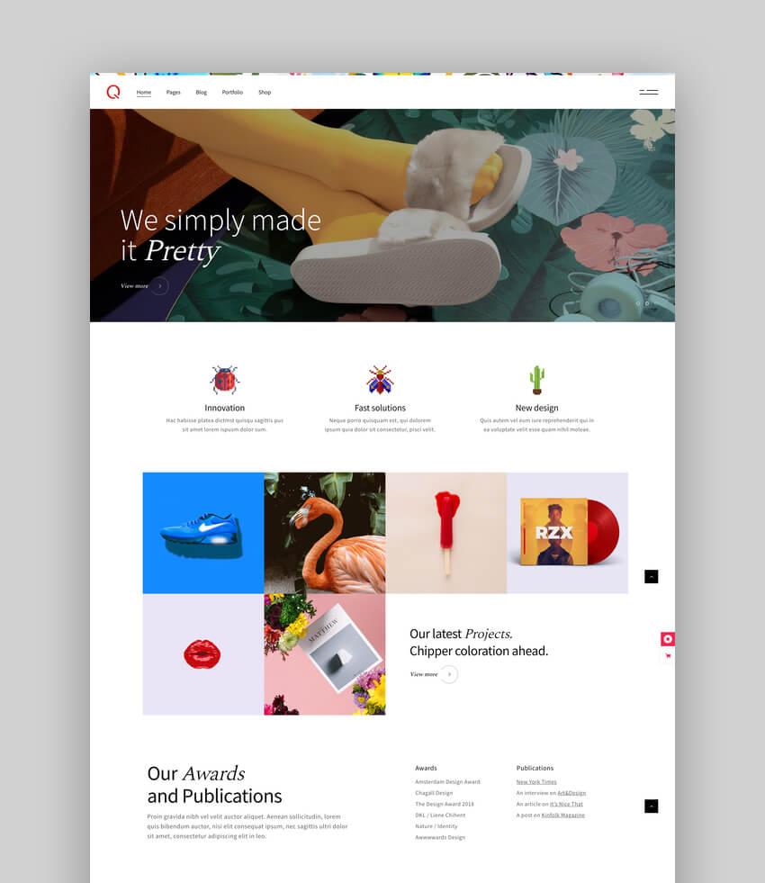 Querida - Creative Agency Theme For WordPress