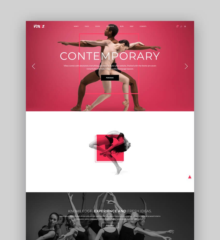 Vibez - Dynamic WordPress Theme for Dance Studios and Instructors