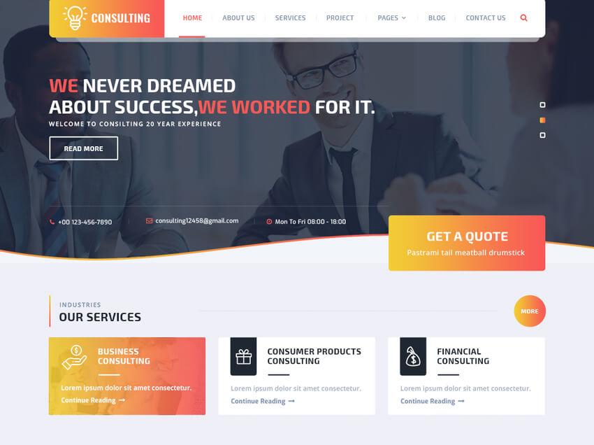 VW Consulting - WordPress theme