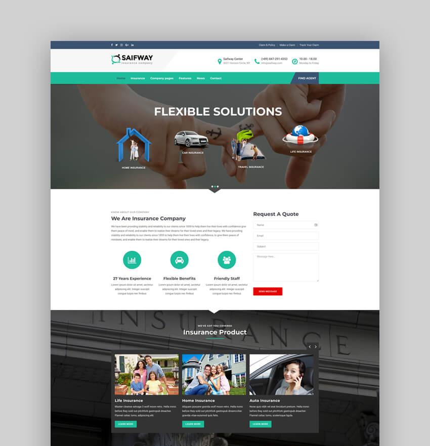 Saifway - Insurance Agency WordPress Theme