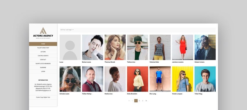 Actors - Model Agencies WordPress CMS Theme