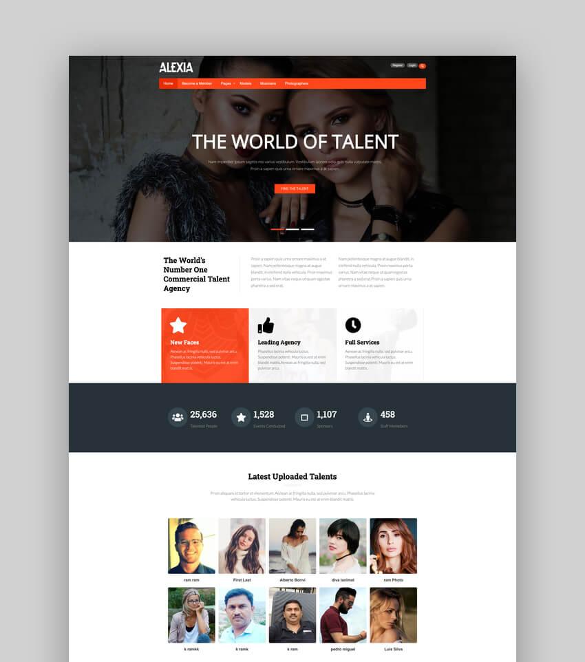 Alexia - Model Agency WordPress Theme