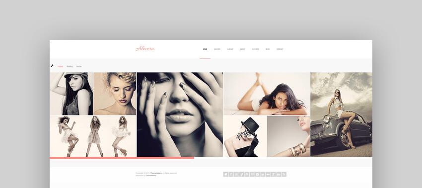 Almera  Model Agency  Photo Portfolio WordPress Theme