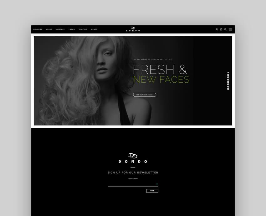 DONDO  Model  Agency Portfolio WordPress Theme