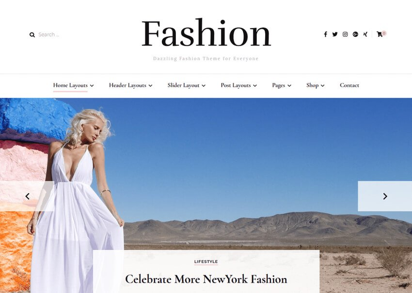 Blossom Fashion - Free Model Agency WordPress Theme