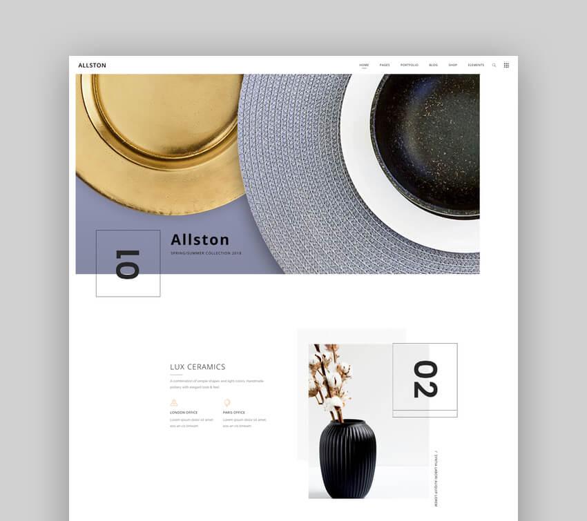 Allston - Contemporary Interior Design and Architecture Theme