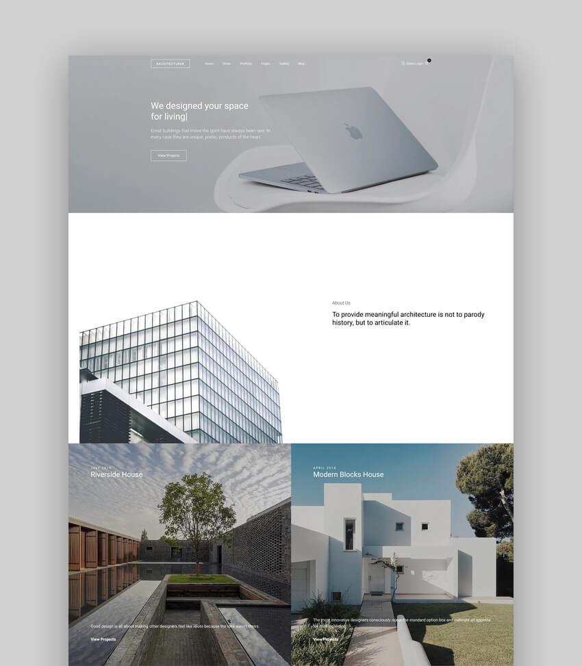 Architecturer WordPress Theme for Interior Designer