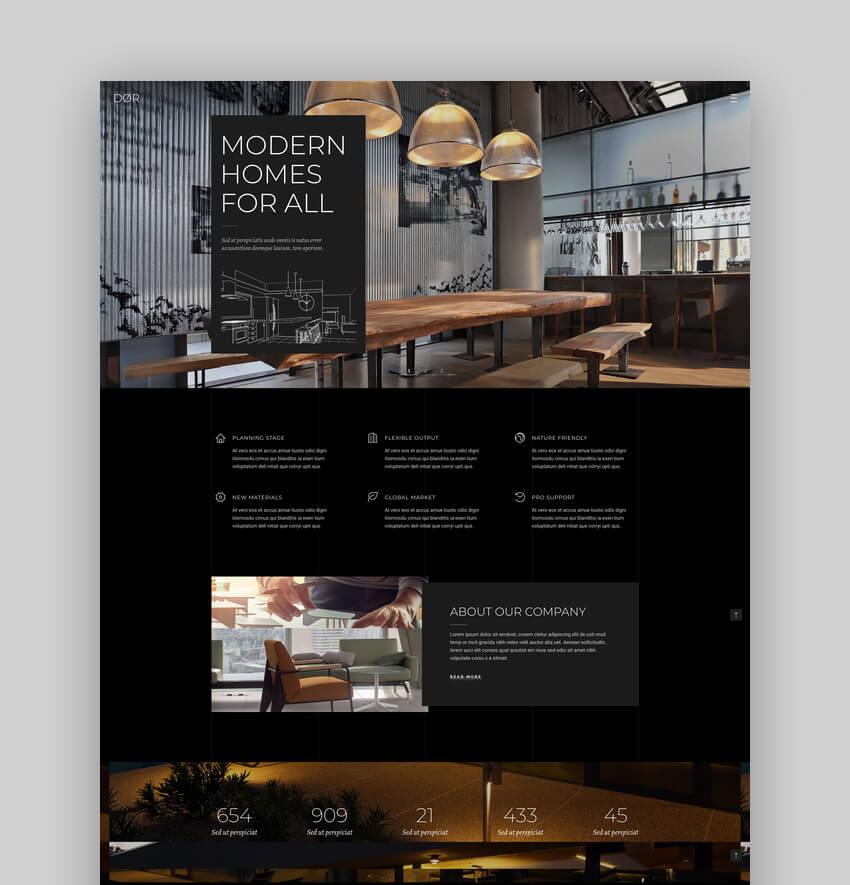 Dr - Modern Architecture and Interior Design WordPress Theme