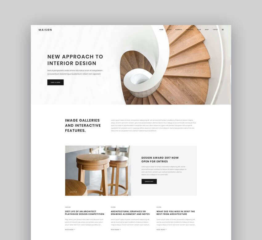 Maison - Modern WordPress Theme for Interior Designers and Architects