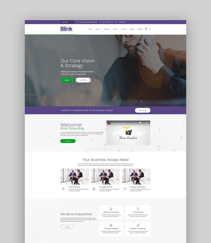Blink - Finance and Accounts Business WordPress Theme