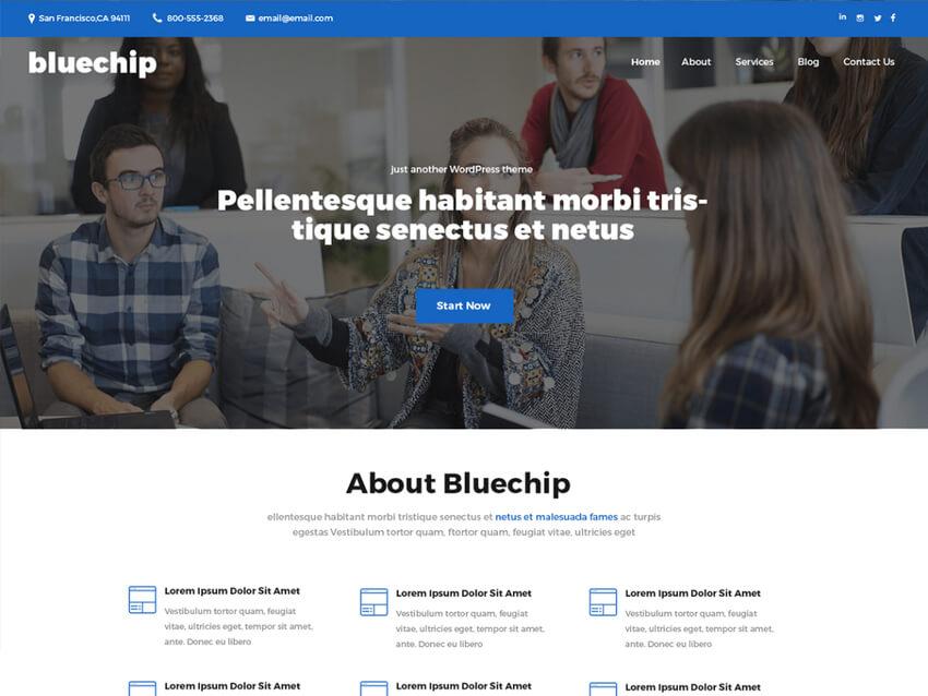 Bluechip - Free Bookkeeping WordPress Theme
