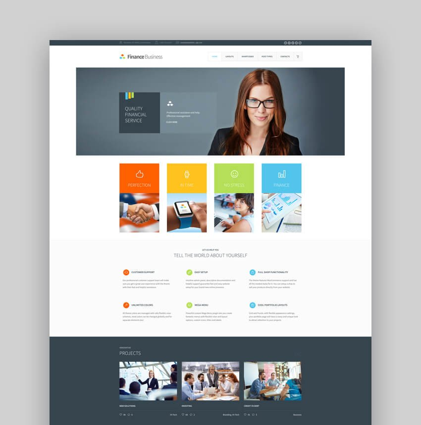 Finance Business - Company Office Corporate Theme For Accounting And Bookkeeping Websites
