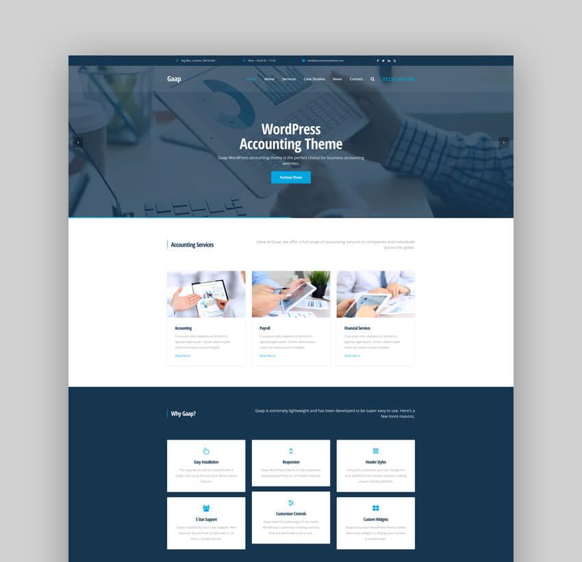 Gaap - WordPress Accounting Theme