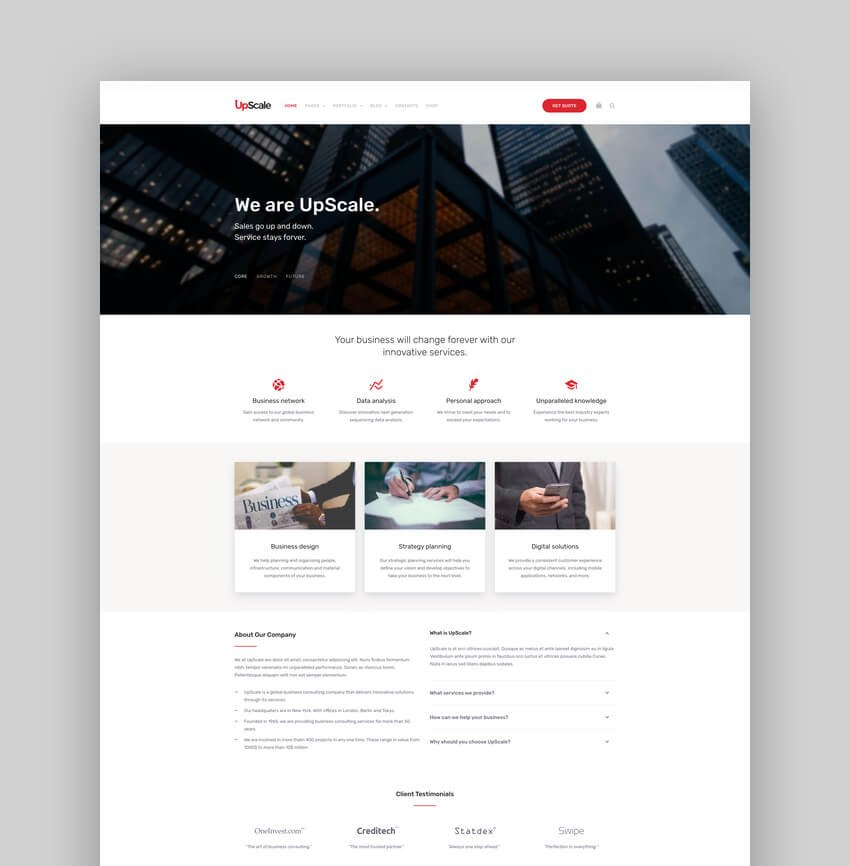 UpScale - Business And Accounting Theme