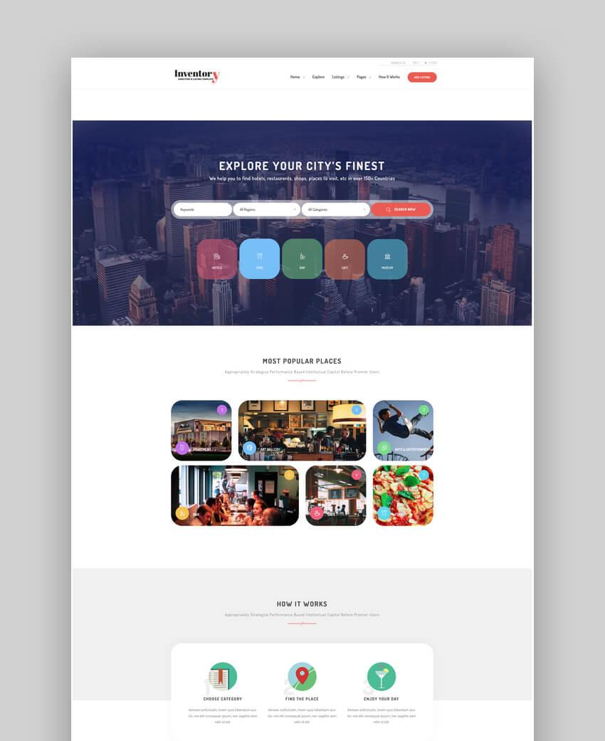 Inventory - WordPress Directory Theme