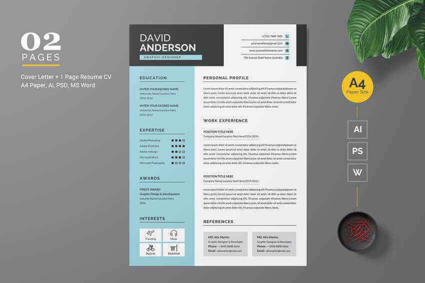 Creative ResumeCV template from Envato Elements