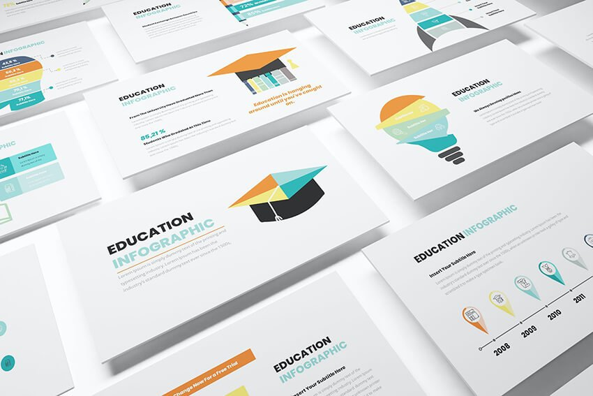 Education Infographic Powerpoint Template