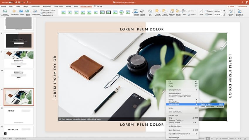Adding images to the PPT template