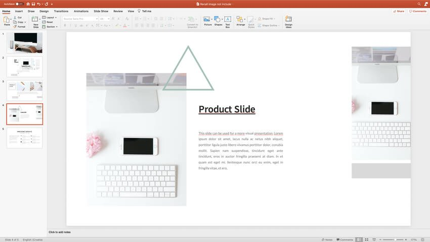 a creative product slide layout