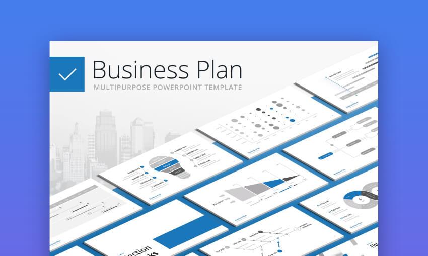 Business Plan Gantt Chart PPT Template