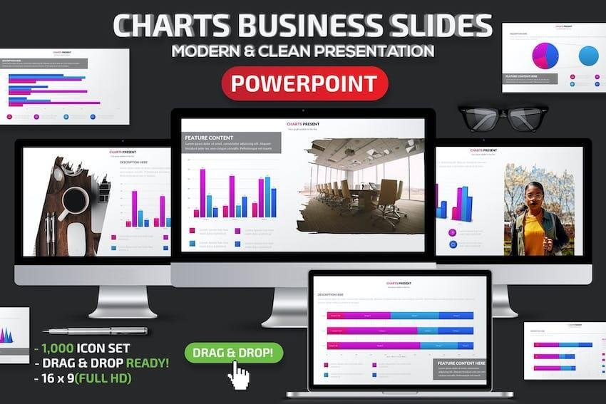 Charts Business PowerPoint