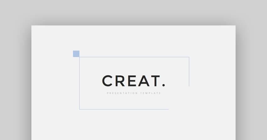 Creat - Minimal Creative Google Slides Theme