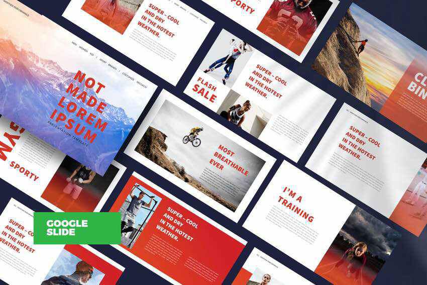 Creative Agency Google Slide Template Visuals Example