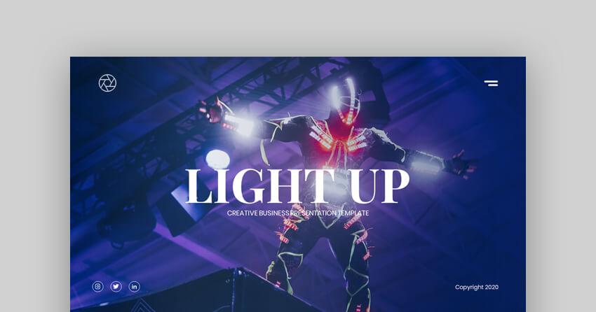 Light Up - Creative Business Google Slides Template