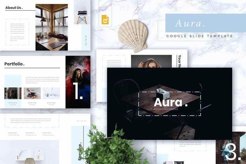 Aura Creative Google Slides Template Example