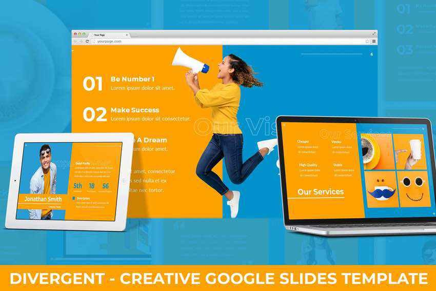 Divergent Google Slides template