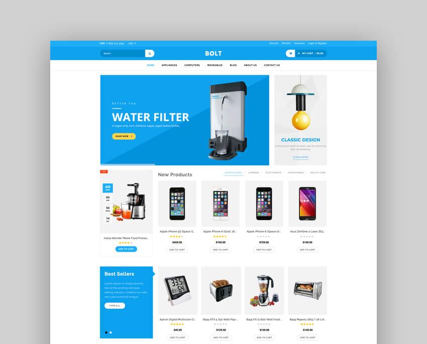 Bolt - Electronics Store Shopify Theme  Template