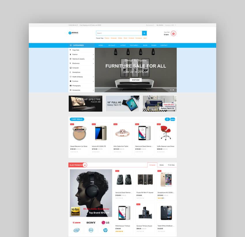 Bigsale Responsive Ecommerce Shopify
