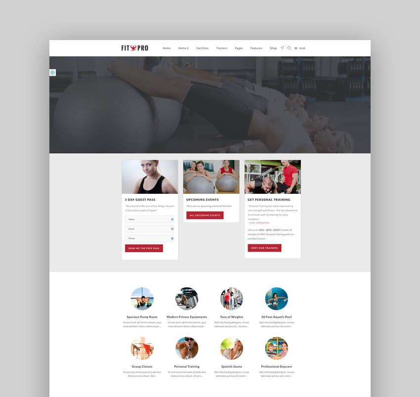 FitPro - CrossFit Fitness Club WordPress Theme