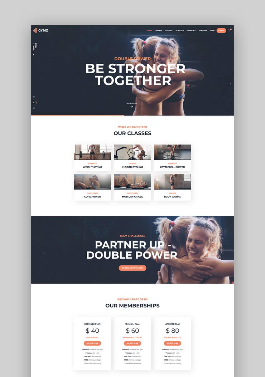 Gym X - CrossFit Fitness Trainer WordPress Theme