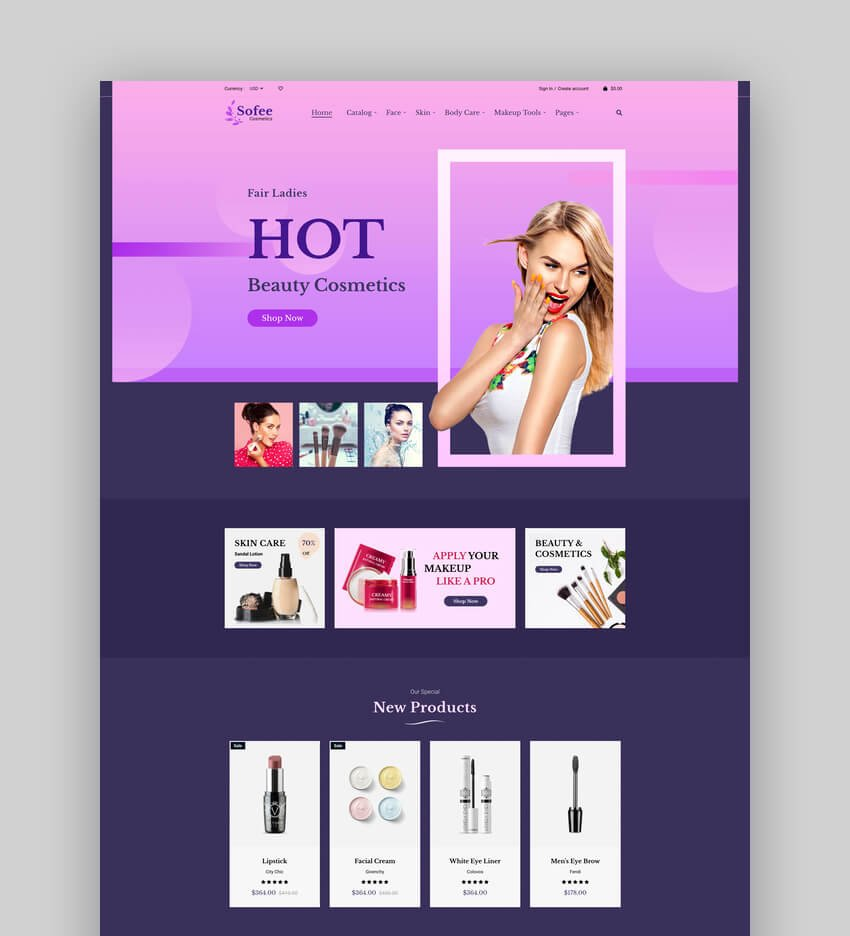 Sofee  Cosmetic Skincare Shopify Theme