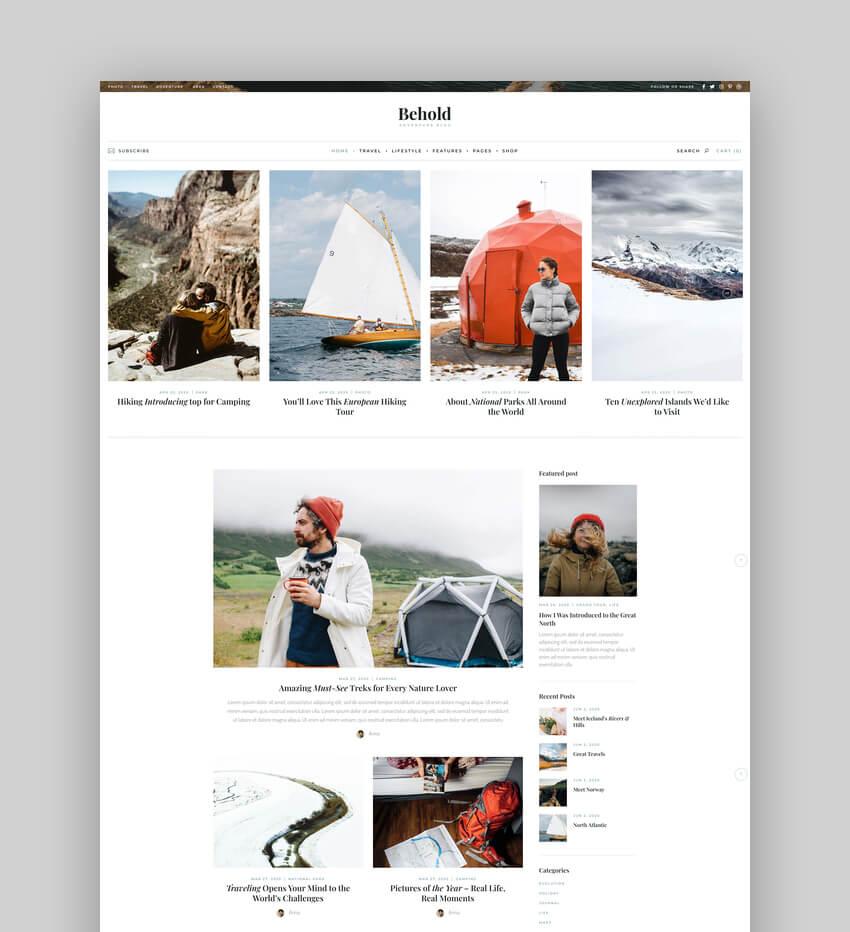 Behold - Personal Blog WordPress Theme