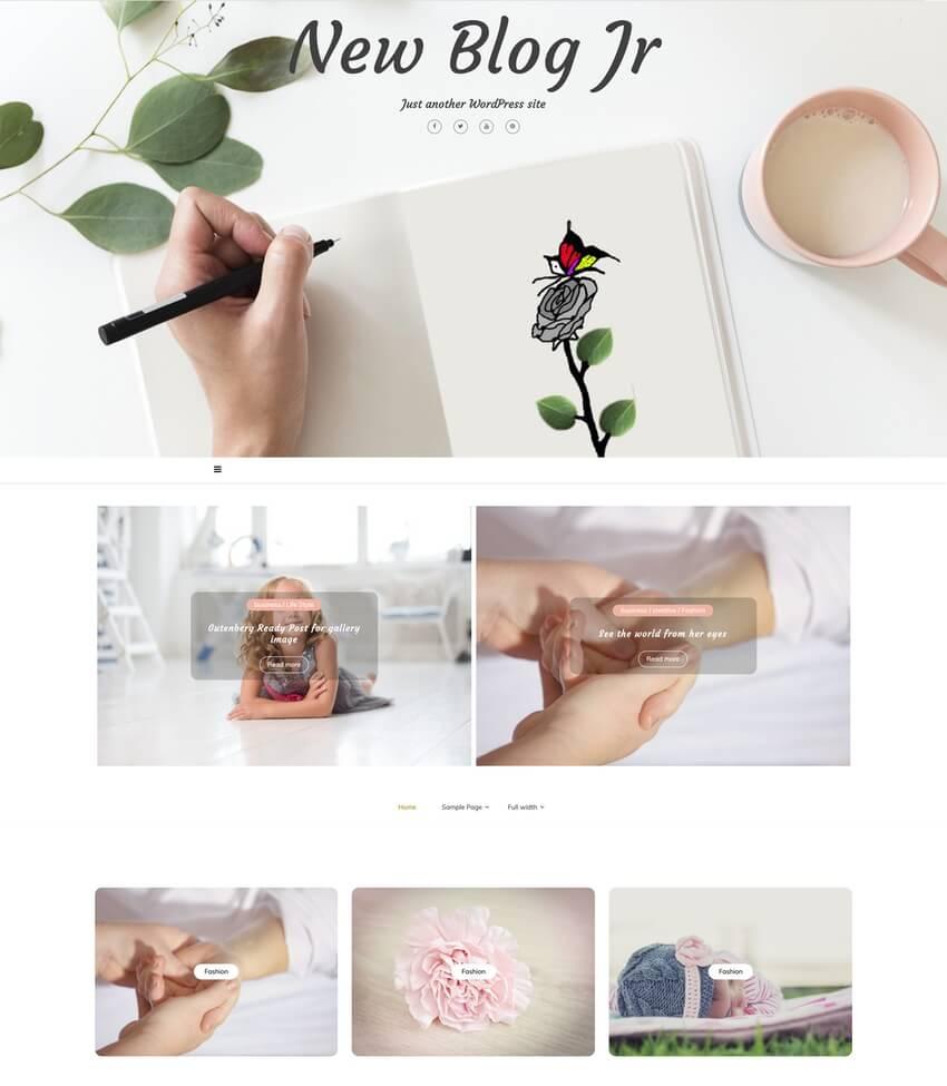 New Blog Jr - Free WordPress Family Blog Theme