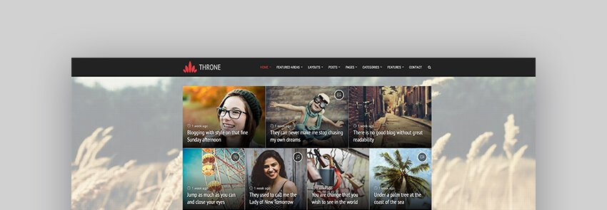 Throne - Personal BlogMagazine Family WordPress Theme