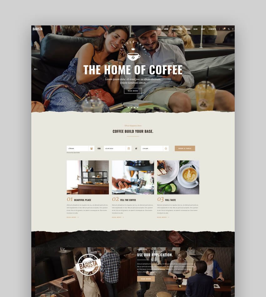 Barista - Modern Theme for Cafes Coffee Shops and Bars