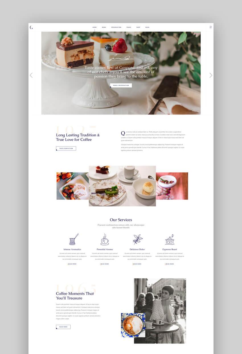 Gaspard - Restaurant and Coffee Shop Theme