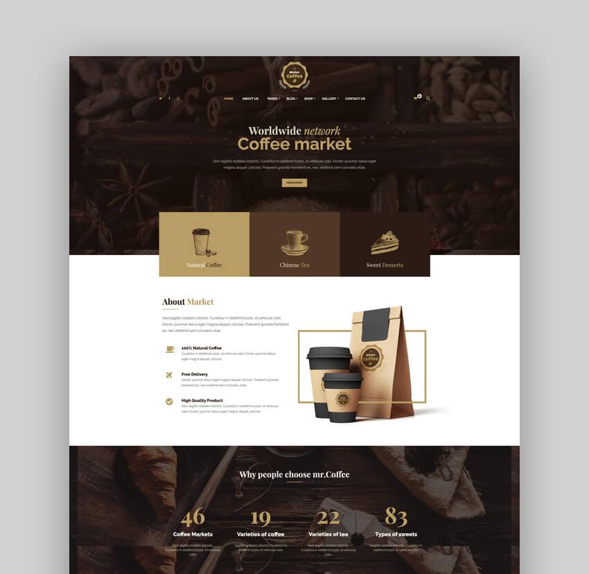 Mister Coffee - Caffeine Market Online Store WordPress Theme