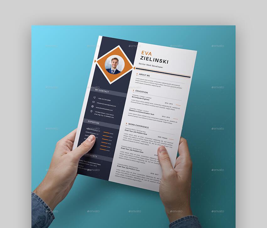 Creative Graphic or Web Designer Resume