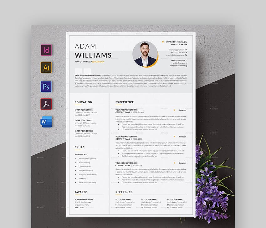 Minimal Web Designer Resume