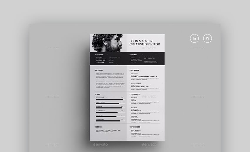 Web Designer CV Resume