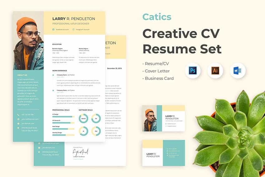 CV Resume template on Envato Elements