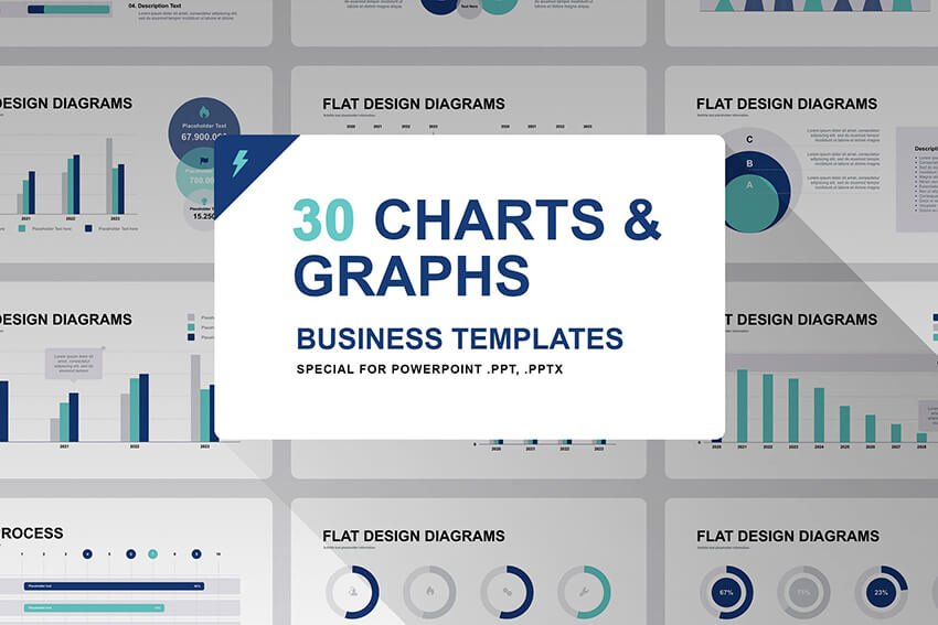 Charts and Graphs PPT template