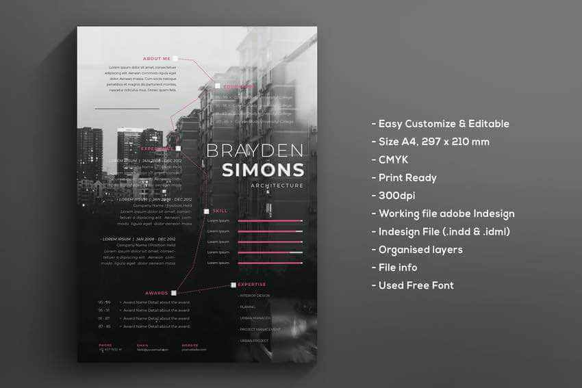 Stand out with a photo background like in this creative resume template example