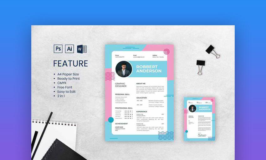 Creative Dual Color Resume Design