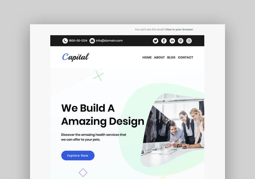 Capital - Multipurpose Responsive Email Template For Mailchimp